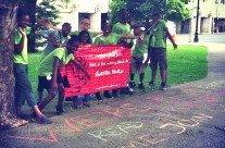 Pedal Farmers use Guerilla Haiku to spread word about their work in Newark!